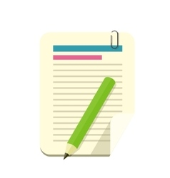 Paper Sheet Pencil Pen Icon vector