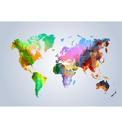Polyongal world map vector image
