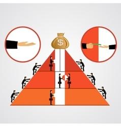 Pyramid of bribes vector