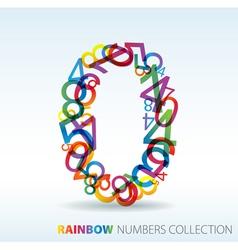 rainbow zero vector image