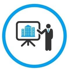 Realty presentation icon vector