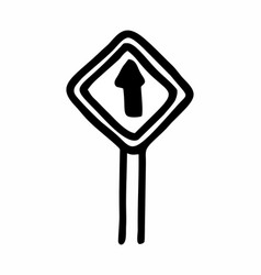 road sign freehand vector image