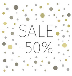sales banner with 50 percent discount vector image