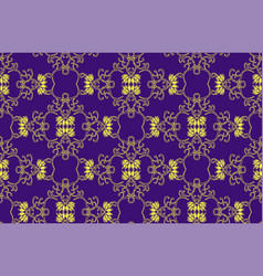Seamless decorative pattern with lotus vector