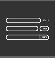 search bar element design set search boxes ui vector image