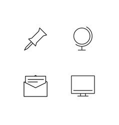 Seo and marketing linear icons set simple outline vector