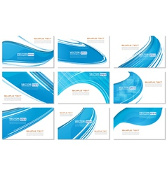 Set of Abstract Various Business Card wave design vector image