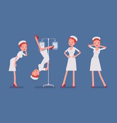 sexy nurse in provocative poses vector image