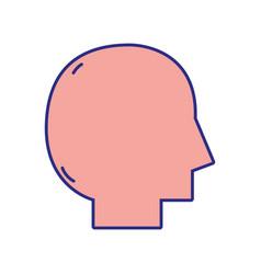 Silhouette man head vector