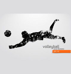 silhouette of volleyball player vector image