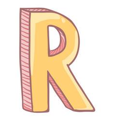 Single cartoon - the letter r vector