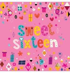 Sweet Sixteen card 3 vector
