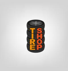 tire shop logo vector image