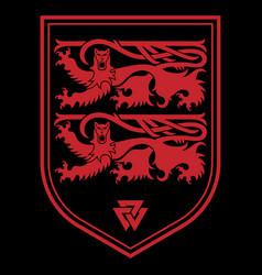 viking scandinavian design two scandinavian lions vector image