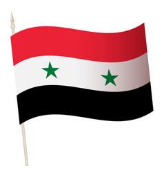 Waving flag on a flagpole the national vector
