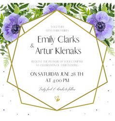 Wedding floral floral invite card design vector