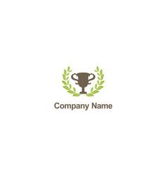 winner trophy company logo vector image