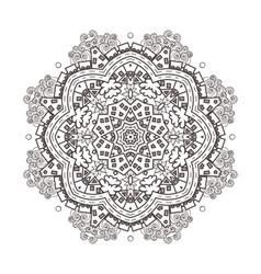 abstraction baby circular mandala vector image