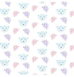 bears pattern set vector image vector image