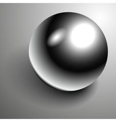 Beautiful 3D shiny natural Black Pearl vector image