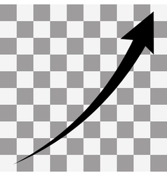 black arrow Infographic chart vector image vector image