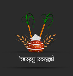 indian festival pongal background vector image