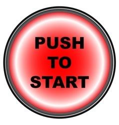 Push to Start vector image