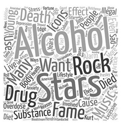 Rock Stars Music Icons Alcohol and Drug Overdose vector image vector image