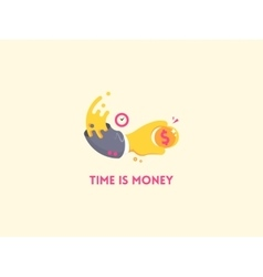 Time is money concept icon vector image vector image