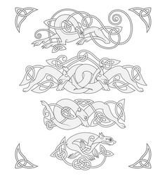 ancient celtic mythological symbol of wolf vector image vector image