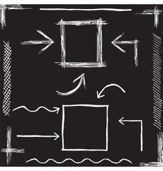 Chalk Arrows Hand drawn vector image