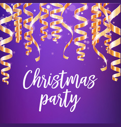 christmas party poster of winter holidays design vector image vector image