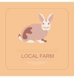 Logotype of local farm vector