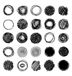 Set Of Pencil Hand Drawn Doodle Borders vector image vector image