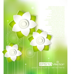 Spring cutout flower design vector image vector image