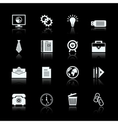 Business office supplies pictograms set vector image vector image
