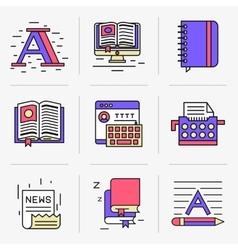 Creative flat line ikon set vector