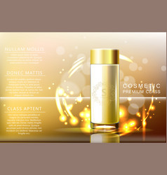 design cosmetics glass bottle product advertising vector image