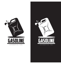 logo for gasoline canisters vector image vector image