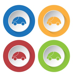 set of four icons with car vector image vector image