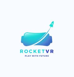 Virtual reality rocket abstract icon sign vector