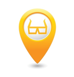 3d cinema glasses icon yellow pointer vector image vector image