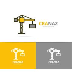 crane and construction logo design vector image vector image