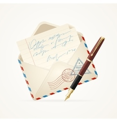 Letter Mail and Pen vector image vector image