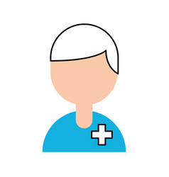 medical people staff help professional character vector image vector image