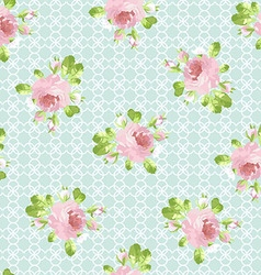 Pattern with pastel pink roses vector image vector image