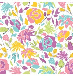 Seamless pattern with doodle flowers vector image