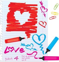 Set of elements for Valentines Day design vector image
