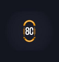 80 th anniversary celebration logo template design vector