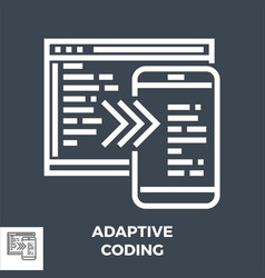 adaptive coding thin line icon vector image